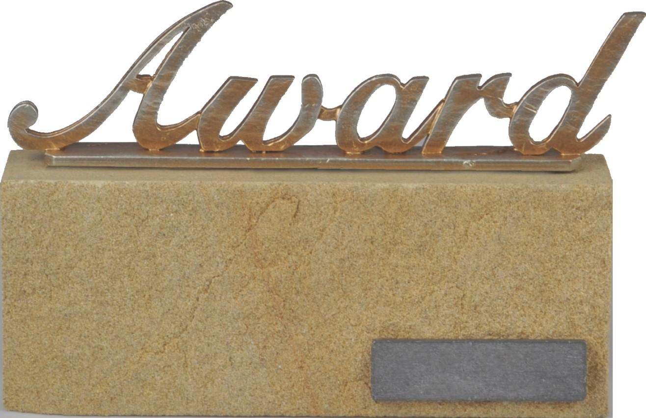 Award met tekst Award 13.5cm WBEZ 728
