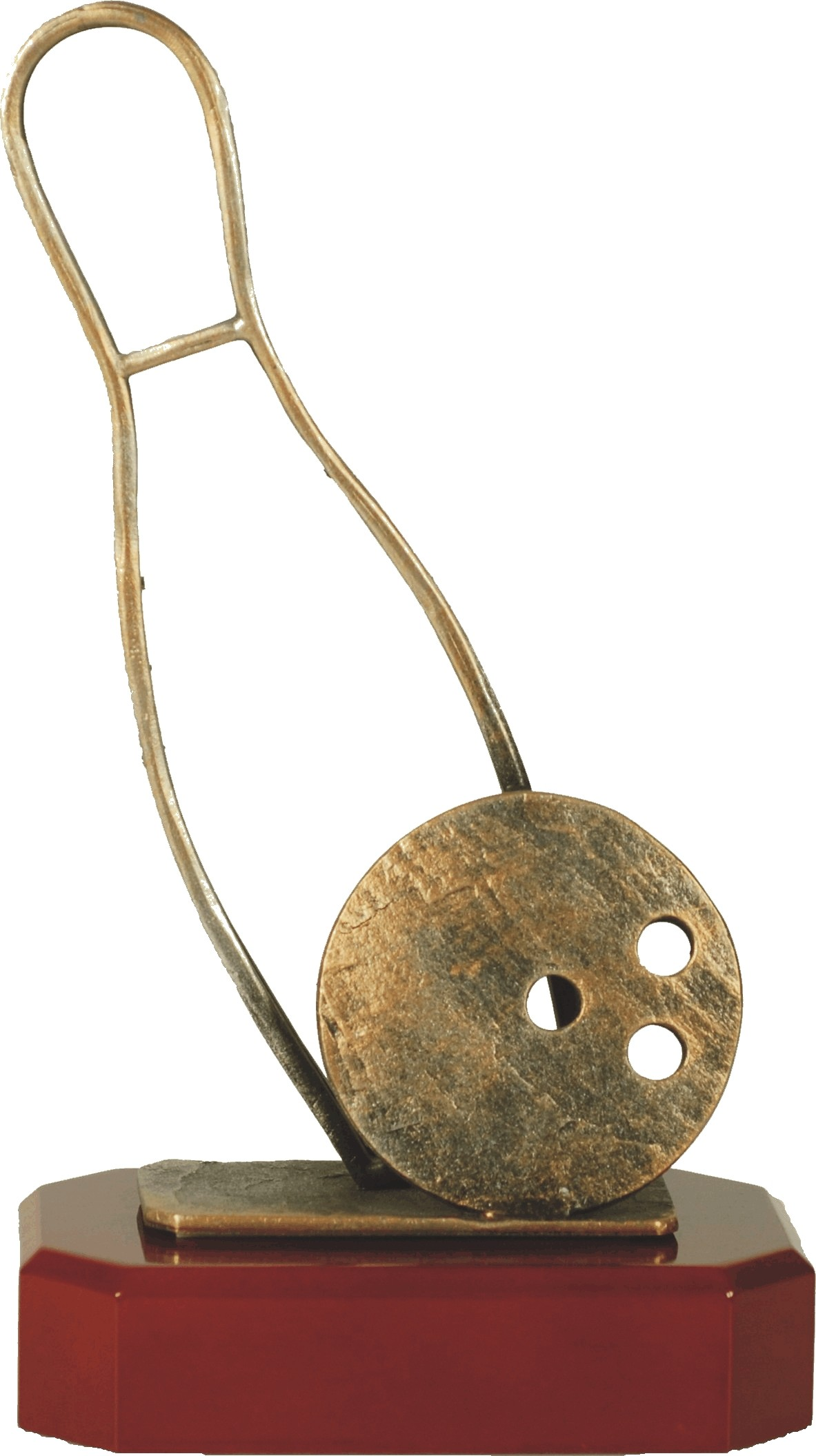 Luxe trofee bowlingbal met kegel 24,5cm WBEL 167B
