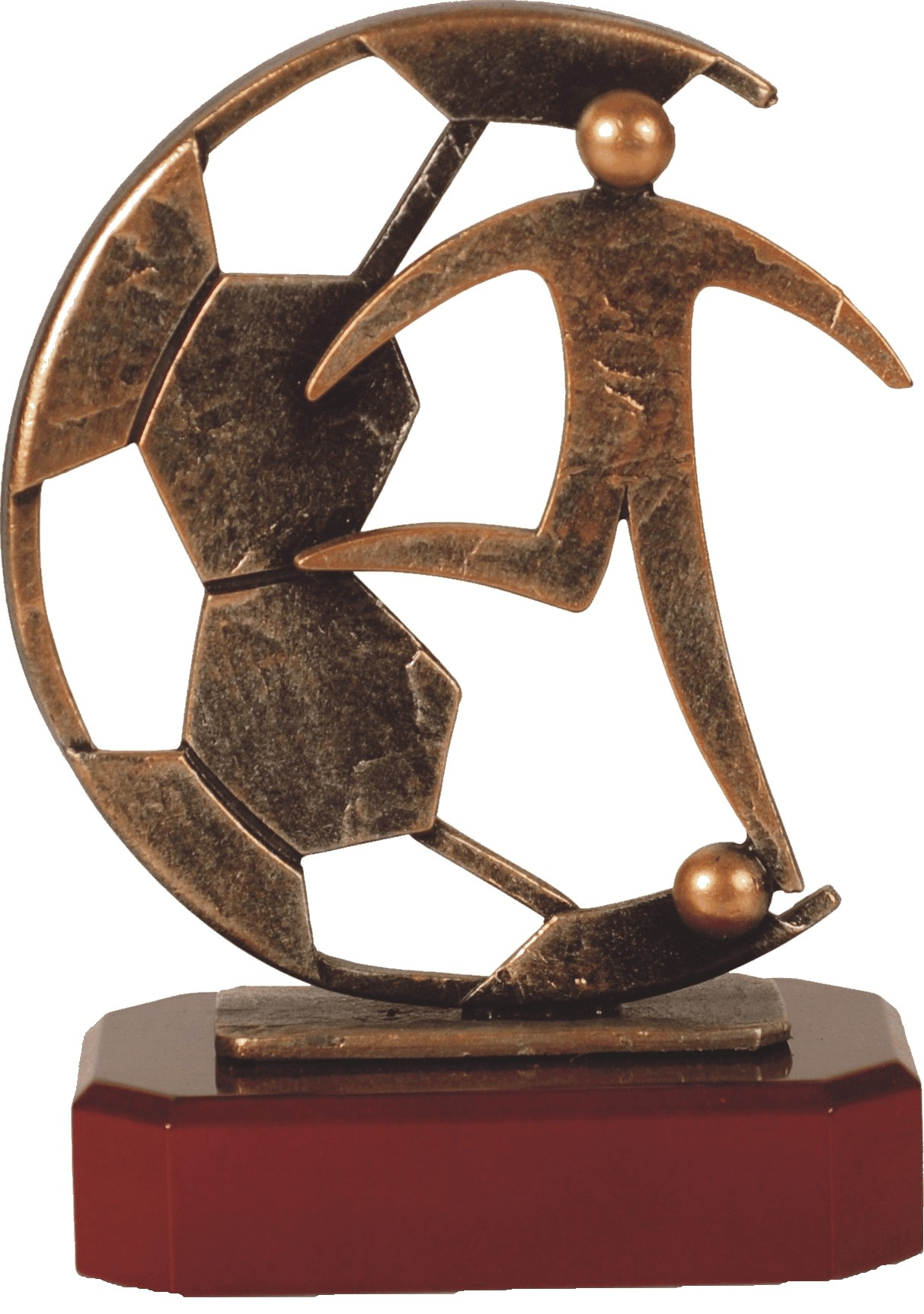 Luxe trofee voetbal / voetballer 20,5cm WBEL 189B