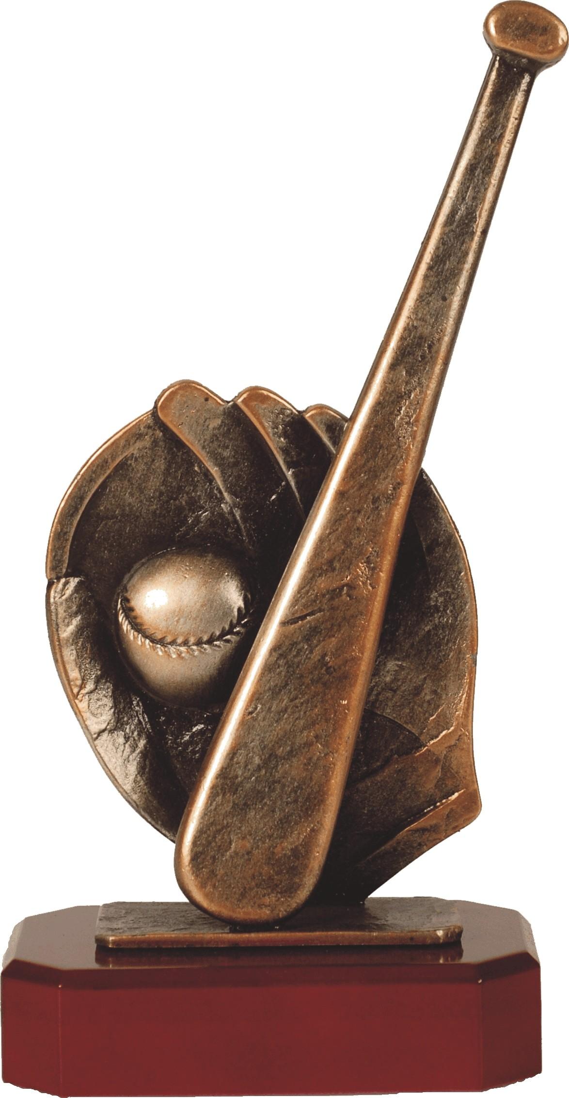 Luxe trofee honkbal / honkballer / honkbalstick met handschoen 27,5cm WBEL 199B