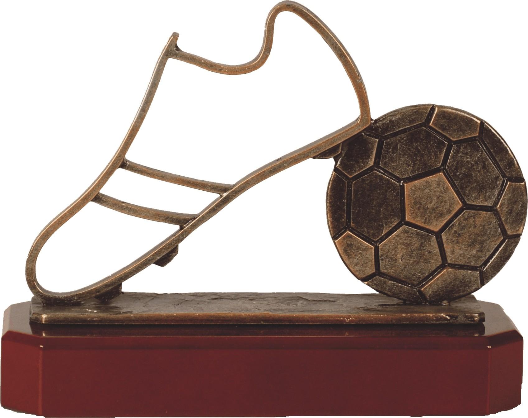 Luxe trofee voetbal / voetbalschoen 17cm WBEL 207B