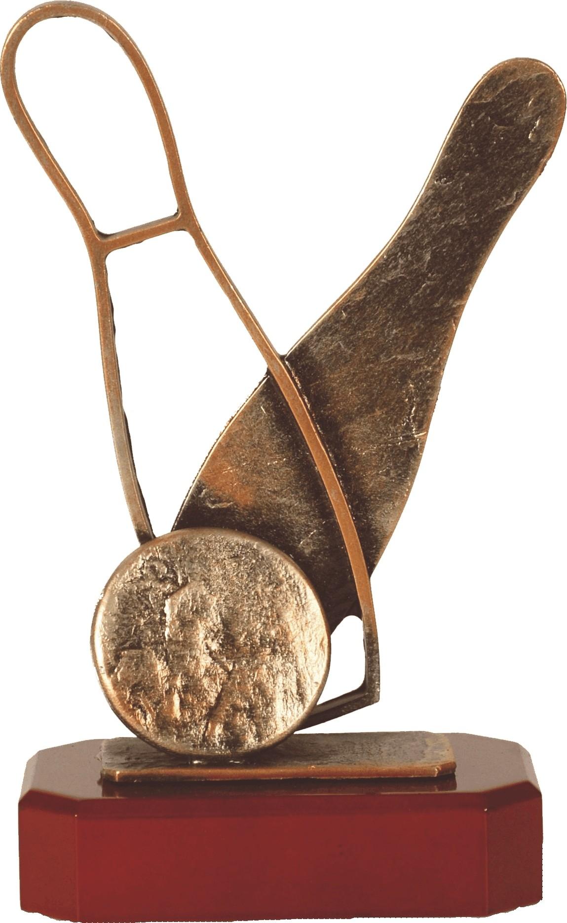Luxe trofee met bowling kegels en bowlingbal 24cm WBEL 261B