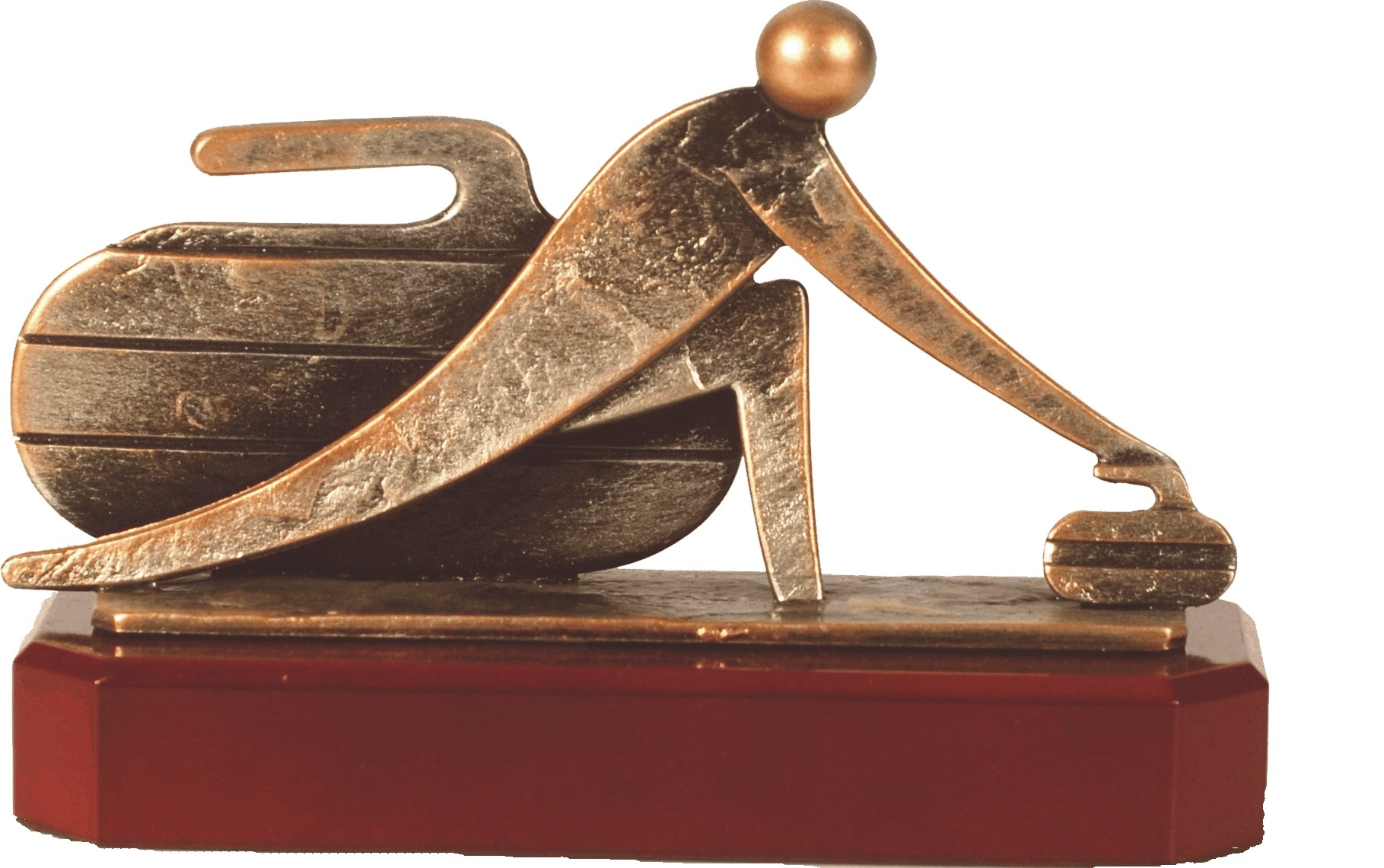 Luxe trofee curling 15cm WBEL 271B