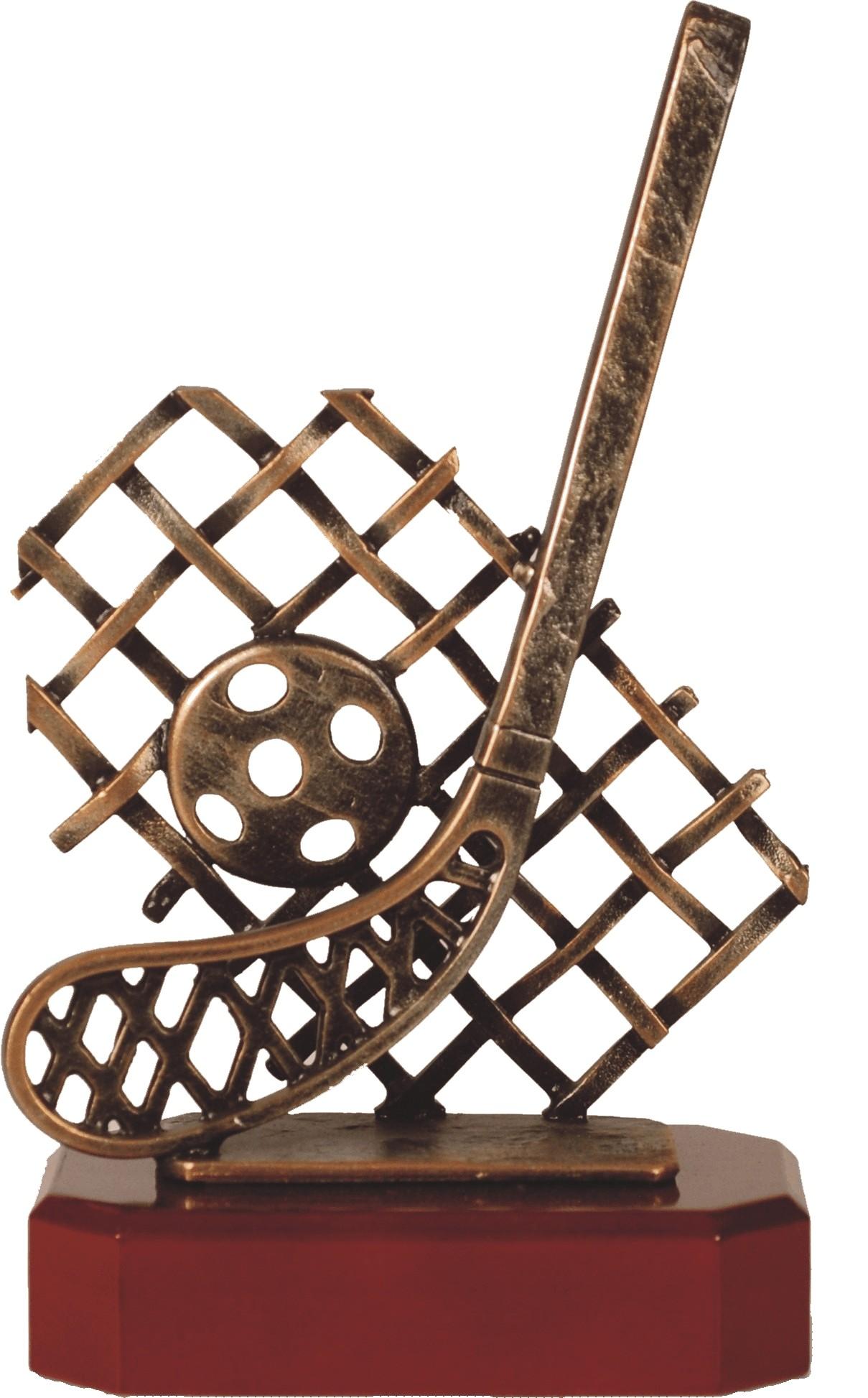 Luxe trofee hockey / hockeystick met bal en net 24,5cm WBEL 276BB