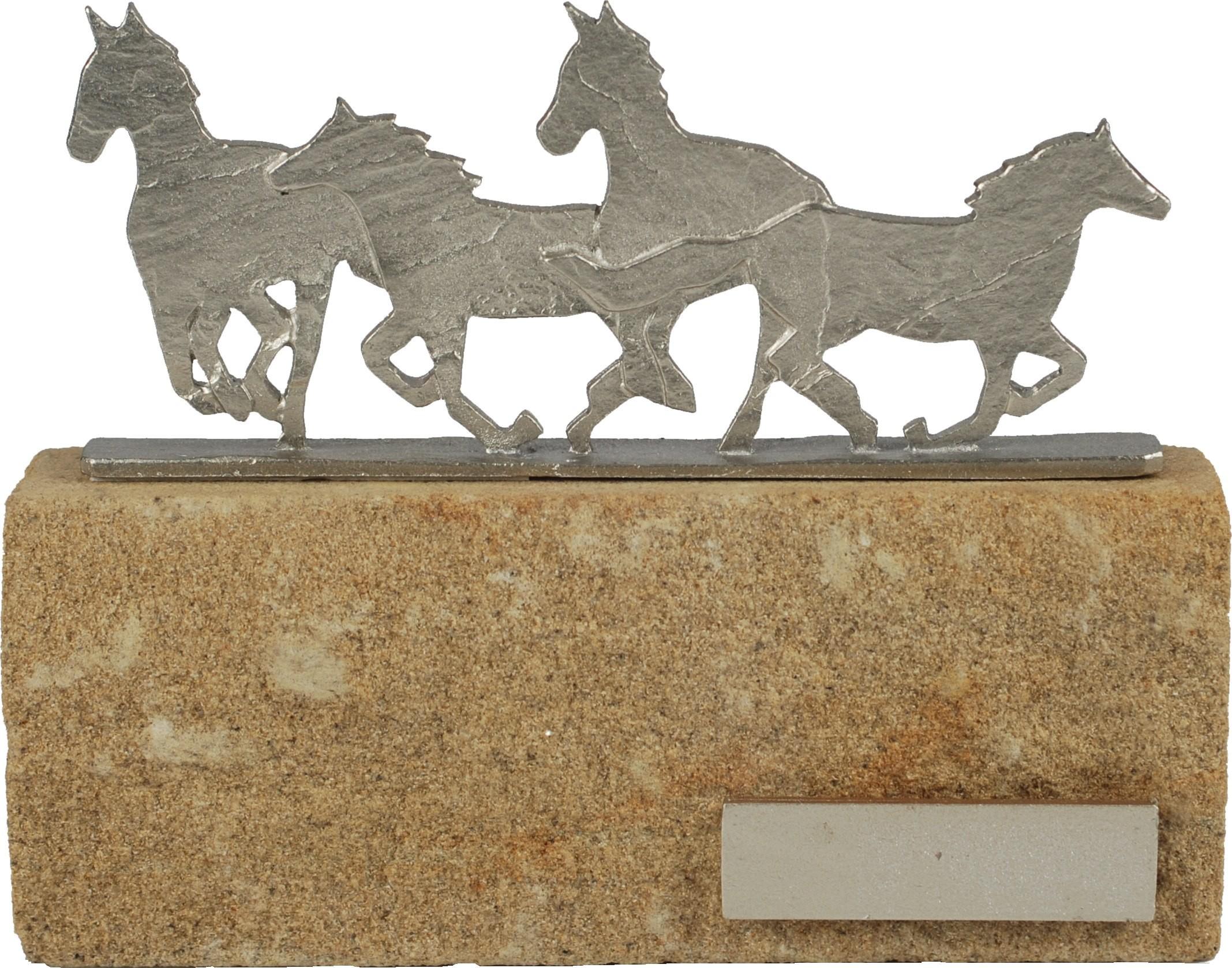 Luxe trofee rennende paarden 17cm WBEL 608