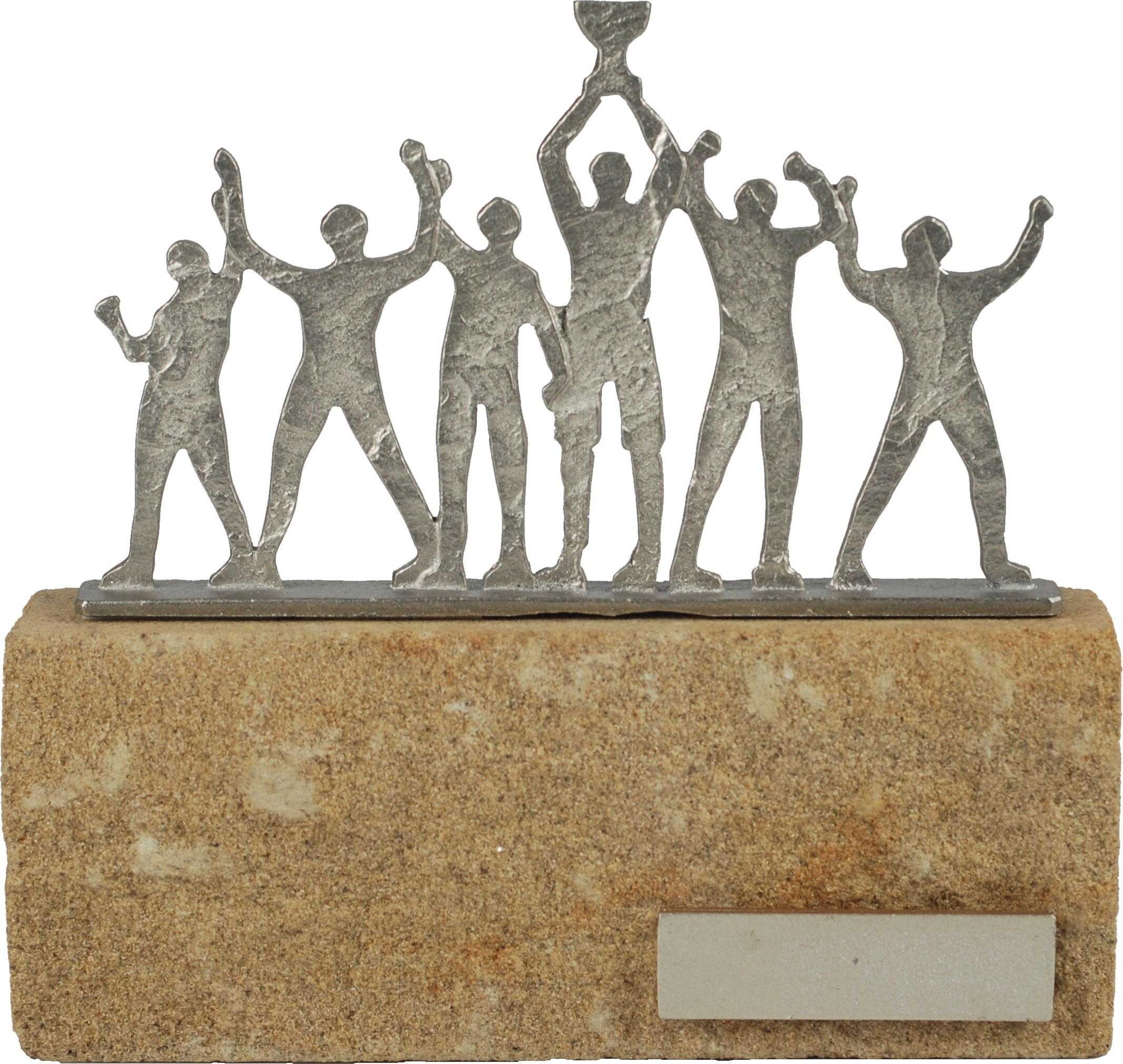 Luxe trofee winnend team / team met trofee 19cm WBEL 609