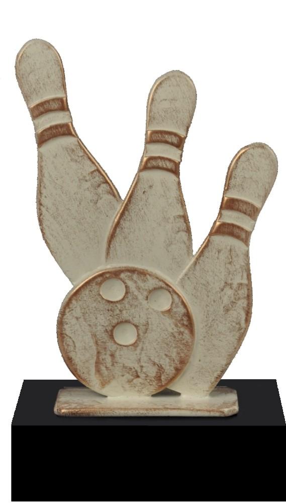 Luxe trofee bowlingbal met kegels 22cm WBEL 723B