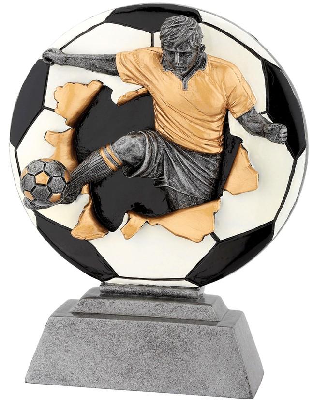 Standaard voetballer met voetbal Serie WST1010