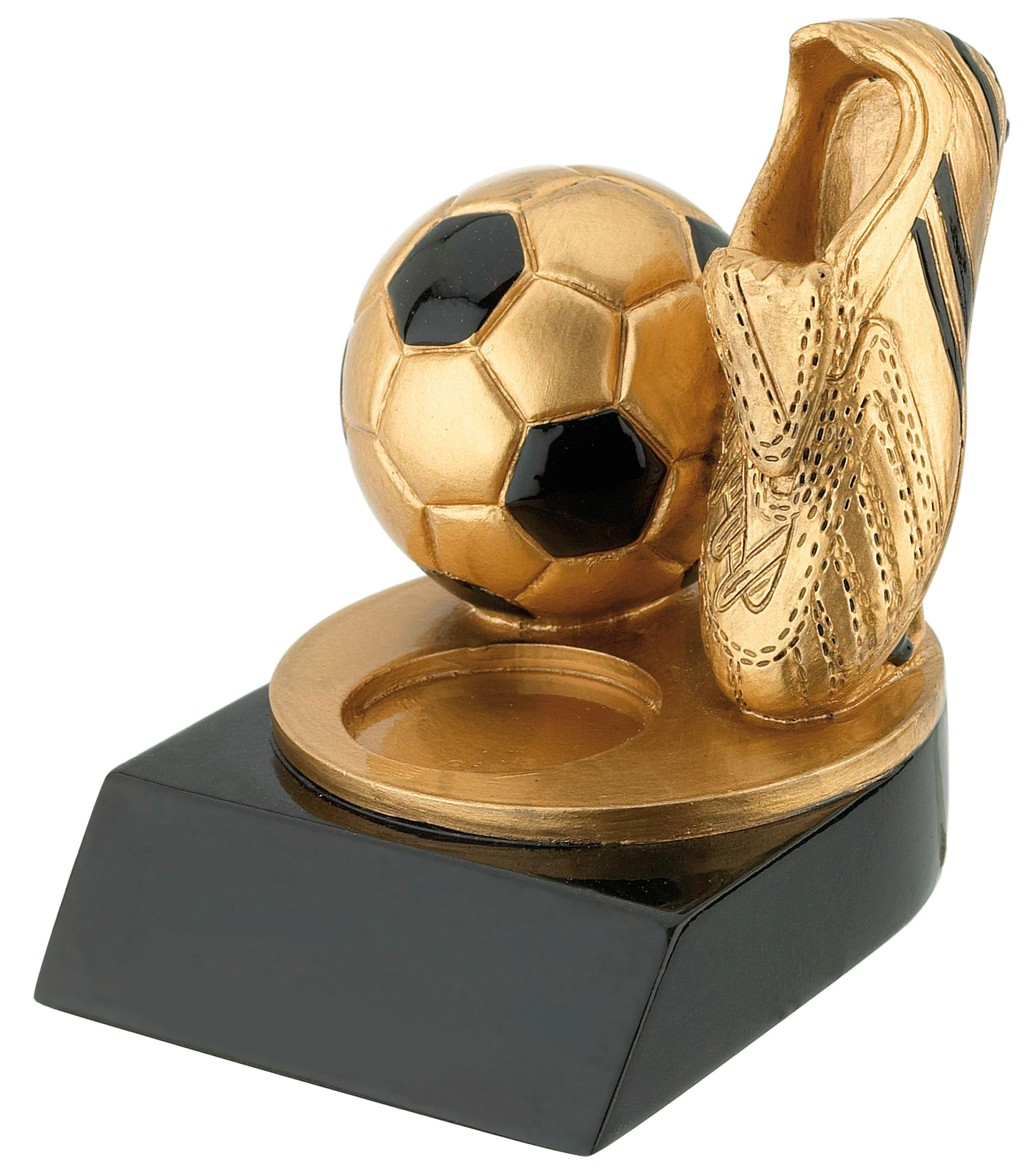 Standaard met Gouden Voetbalschoen en bal WST240 6x7,5