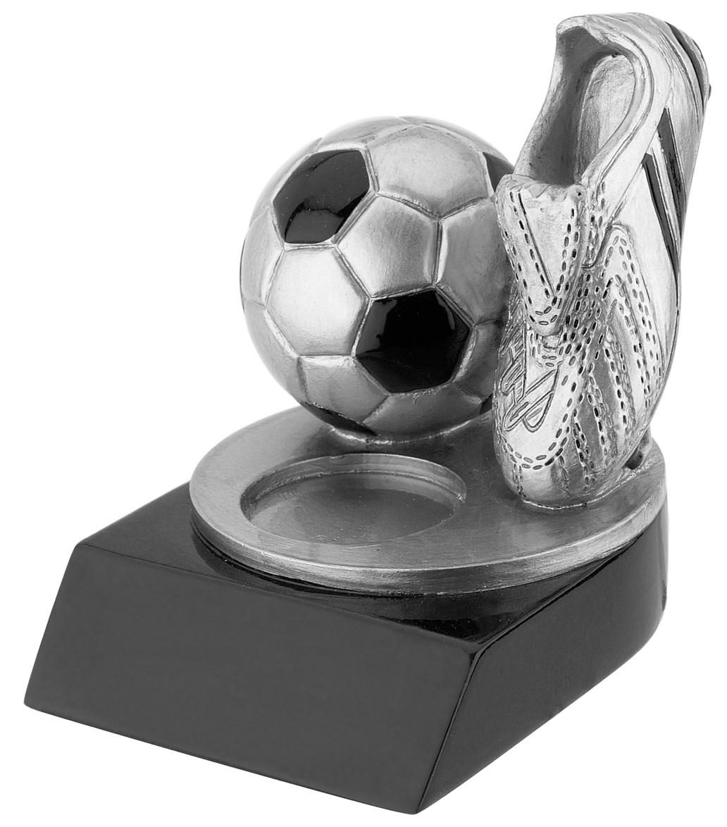 Standaard met Zilveren Voetbalschoen en Bal WST240 6x7,5