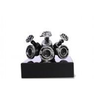 43386 Verdeelstuk klein Zilver 10cm