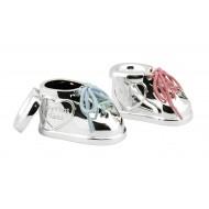 Tanden- en haarlokdoosje schoen met 2 kleuren veters (set)
