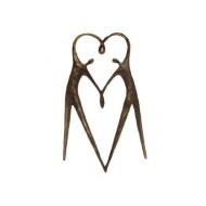 WMA643 Het hart op de juiste plaats klein 11cm