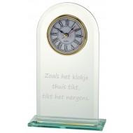 Glazen Trofee met klok W540