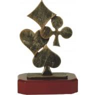 Luxe trofee kaartspel 25cm WBEL 171B