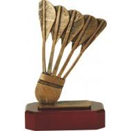 Luxe trofee pijlen in houder 22cm WBEL 175B