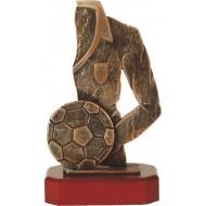 Luxe trofee voetbalshirt met voetbal 24,5cm WBEL 182B