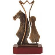 Luxe trofee schaken / schaakspel 25cm WBEL 186B