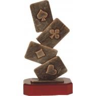 Luxe trofee kaartspel 26cm WBEL 194B