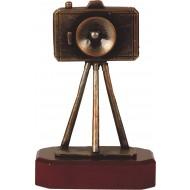 Luxe trofee camera op statief / fotograaf 22.5cm WBEL 200B
