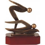 Luxe trofee twee zwemmende mensen / zwemmen 18cm WBEL 206B