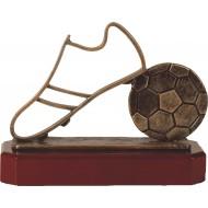 Luxe trofee voetbal / voetbalschoen 17cm WBEL207B
