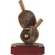 Luxe trofee tafeltennis batjes 22cm WBEL 215B