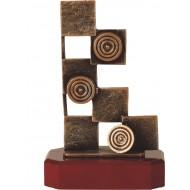 Luxe trofee dammen / damspel 21,5cm WBEL 229B
