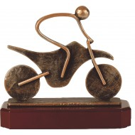 Luxe trofee persoon op motor / motorbestuurder 19,5cm WBEL 237B