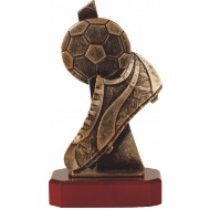 Luxe trofee voetbal en voetbalschoen 24,5cm WBEL 240B