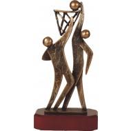 Luxe trofee twee volleyballers / volleybal 27,5cm WBEL 251B
