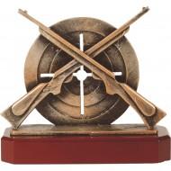 Luxe trofee met geweer en bord 21cm WBEL 260B