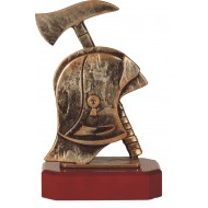 Luxe trofee brandweerhelm met bijl 24cm WBEL 270B