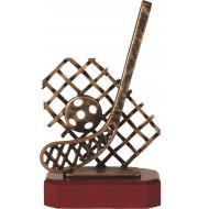 Luxe trofee hockey / hockeystick met bal en net 24,5cm WBEL 276B