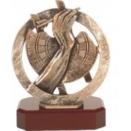 Luxe trofee dartbord / darter 19,5cm WBEL 285B