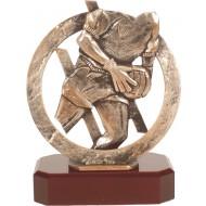Luxe trofee keeper / voetbal keeper 19,5cm WBEL 287B