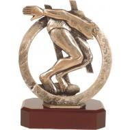 Luxe trofee zwemmer / wedstrijdzwemmen / duiken 20cm WBEL 290B