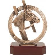 Luxe trofee paard / paardrijden 25,5cm WBEL 298B
