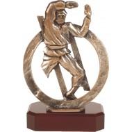 Luxe trofee vechtsport / judo / karate 22,5cm WBEL 299B