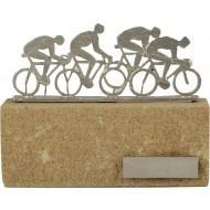 Luxe trofee met fietsers / wielrenners 16cm WBEL 600