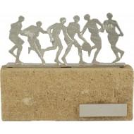 Luxe trofee met voetballers / voetbal 16cm WBEL 601