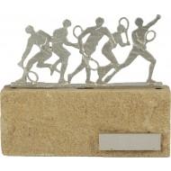Luxe trofee met tennissers / tennis 17cm WBEL 602