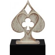 Luxe trofee kaarten / kaarstpel 20cm WBEL 744B