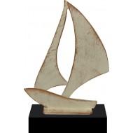 Luxe trofee zeilboot 24cm WBEL 745B