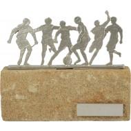 Luxe trofee met voetballers / voetbal 17cm WBEL 606