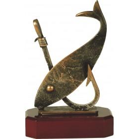 Luxe trofee vis met haak / vissers 21,5cm WBEL 172B
