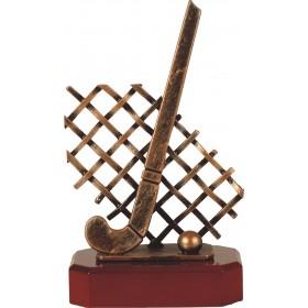 Luxe trofee hockey / hockeystick met bal en net 22,5cm WBEL 197B
