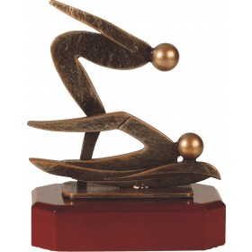 Luxe trofee twee zwemmen 18cm WBEL 206B