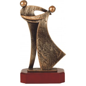 Luxe trofee twee dansende mensen 25,5cm WBEL 239B