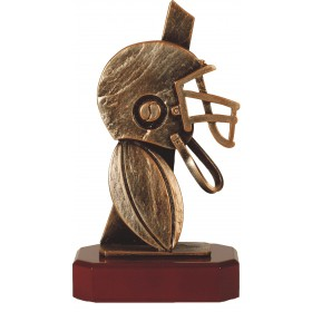 Luxe trofee rugby / rugbyhelm 24cm WBEL 242B